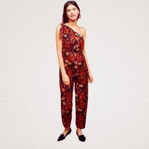 NWOT Anthropologie Maeve Kyoto floral jumpsuit